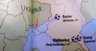 russia football map atlas of football showing crimea as part of russia issued in