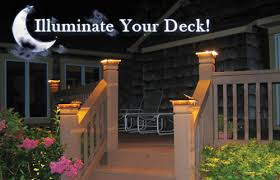 solar powered deck post lights deck lighting some family members should invest in this idea of