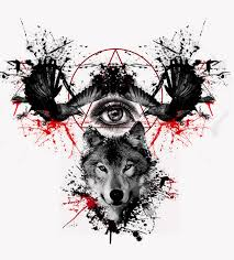 crows and wolf tattoo design by eder1985 on deviantart