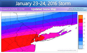 Snow Forecast Map Jan 23 2016 Blizzard Updates Nyc Area Weather