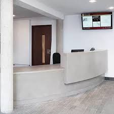 Concrete Reception Desk Commercial Projects