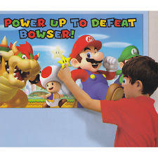 Super Mario Decorations Super Mario Party Game Poster Birthday Supplies Decorations
