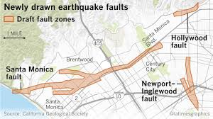 houston fault map fault maps for beverly santa and other westside