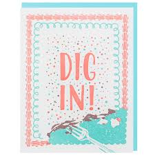 In Birthday Card Dig In Birthday Card Happy Birthday Cards Smudge Ink