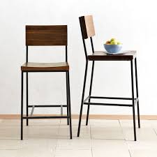 Modern Wood Bar Stool Rustic Bar Counter Stools West Elm