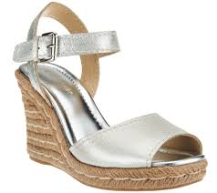 marc fisher leather peep toe espadrille wedges maiseey page 1