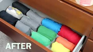 T Shirt Organizer Roll Fold T Shirts Inspired By The Military Roll Or Army Roll