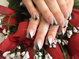 black and white feather nail design black and white diy nails
