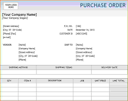 Free Purchase Order Template Excel 6 Excel Purchase Order Template Teknoswitch