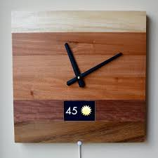 Wood Clock Designs by Ingrein The Clock For The Smart Home