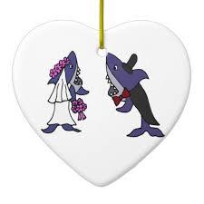 shark and groom wedding tree