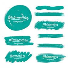 watercolor brush strokes design vector free download
