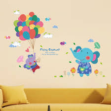 murals pictures promotion shop for promotional murals pictures on elephant balloons birds flowers wall decal home sticker paper removable art picture murals kids nursery baby room decoration