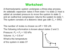 worksheet a thermodynamic system undergoes a three step process