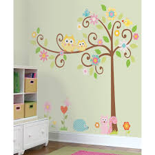 White Nursery Decor Baby Nursery Chic Owl Wall Decals For Nursery Decor With