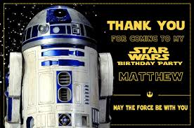 wars thank you cards r2d2 thank you card wars thank you note wars the