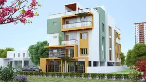 elegant 3d contemporary house design with cheer design of the