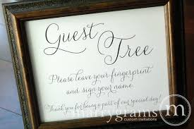 wedding guest book sign wedding guest tree sign thin style