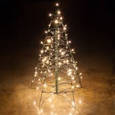 small lighted trees for outdoorslighted