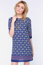 print dress blue dress print dress shift dress 46 00