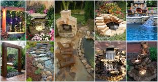backyard waterfalls ideas home outdoor decoration