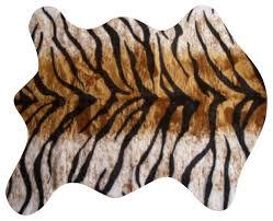faux bengal tiger skin rug 4 u002710x6 u00278 large contemporary bath
