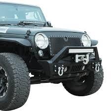 jeep wrangler front bumper 07 16 jeep wrangler jk aluminum stubby front bumper