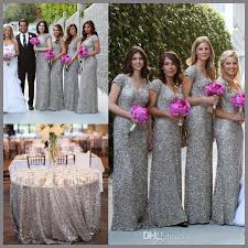 silver wedding dresses for brides wejanedress bling sleeve v back silver sequin