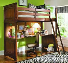 Bunk Bed Desk Bedroom Nature Wood Size Loft Bunk Bed With Desk Underneath