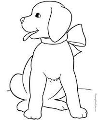 line drawing of cute dog templates pinterest dog embroidery
