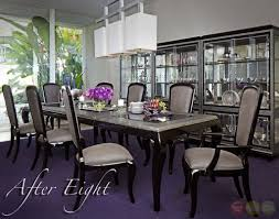 michael amini after eight formal dining room set black onyx by for