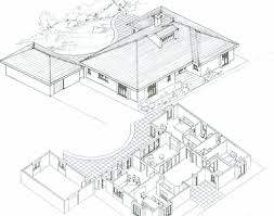 isometric exterior view and plan niesen architects drawing don o