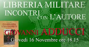 libreria militare roma incontro con l autore adducci e casa giacometti