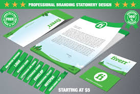 letterhead business card and stationary branding