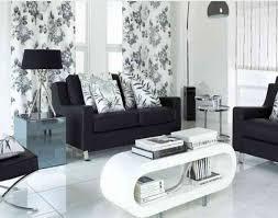 living room black and white home design