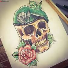 scary skull and blue with for beautiful