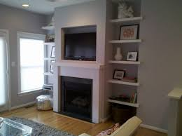 Floating Fireplace Mantels by Floating Shelves And Fireplace Mantel Mazzaferro Design Build