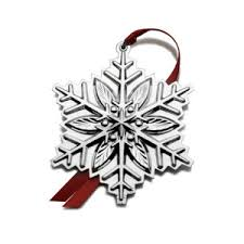 sterling silver snowflake ornaments