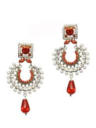 Buy Kundan Embellished Dangler Earrings Jhumkas Online Buy Jhumka Earrings Online At Best Price From