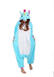 amazon com ubeauty unisex kigurumi onesie unicorn pajamas
