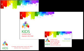 childcare business cards child care stationery set template 9 child care owner