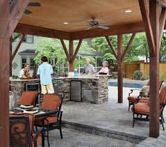 outdoor kitchen roof ideas for highly functional traditional