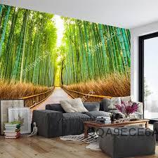 Aliexpresscom  Buy Custom Natural Scenery Wallpaperbamboo - Dining room mural