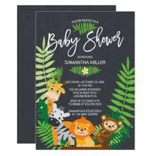 safari baby shower invitations zazzle