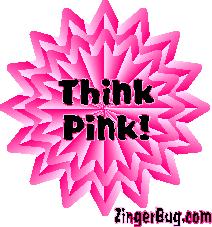 Starburst Meme - think pink starburst glitter graphic greeting comment meme or gif