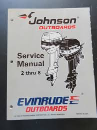 1996 johnson evinrude outboard 2 thru 8 factory oem service repair