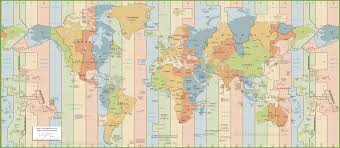 Map Of Time Zones In America by World Time Zones Map