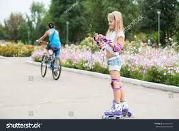 beautiful on roller skates stock photo 474092920