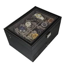 jewelry box 20 sorbus black leather 20 glass top display box free