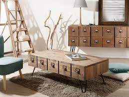 table basse touret bois table basse bois et metal avec tiroir u2013 phaichi com